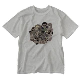 オガサワラミチの共有して長ずる Washed T-shirts
