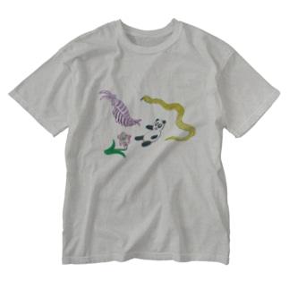 微妙なT Washed T-shirts
