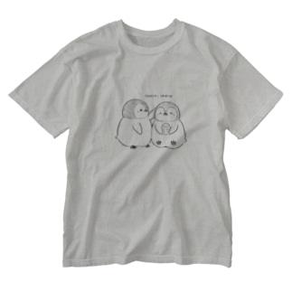 手描きペンギン Washed T-shirts