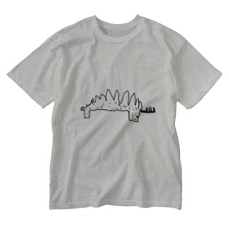 ステゴサウルス Washed T-shirts