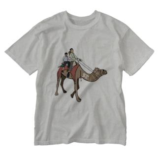 ヒンディー語 ラクダ ウーント インド India Washed T-shirts