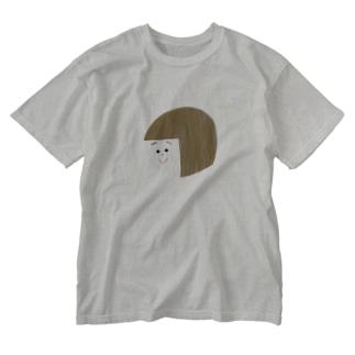 にこにこ Washed T-shirts