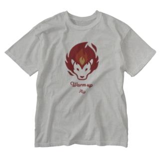 ウォームアップ ライオン Washed T-shirts