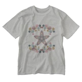 わくわくなヒトデ Washed T-Shirt