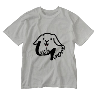 【uncle momo】ロゴ Washed T-shirts