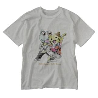 みっけ&ガタゴロウ バレエコンサート Washed T-shirts