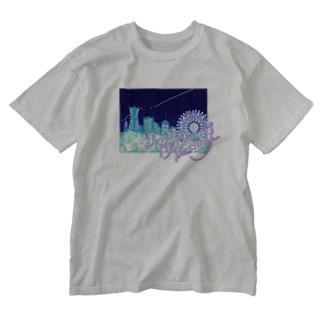 運命の人へ Washed T-shirts