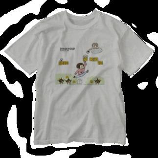 ぽにぽに通信ショップのGame_in_poniponi&QP Washed T-shirts