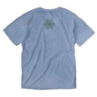 フラクタルウィード(片面) Washed T-shirts