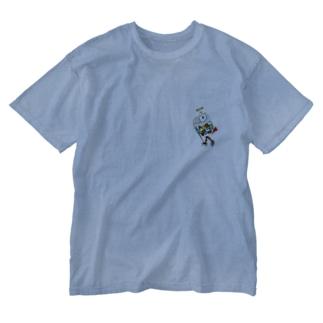 ROBOBO ヨウムのボルトロボ Washed T-shirts