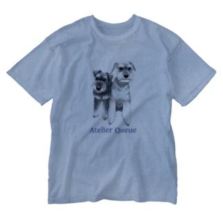 ミニチュアシュナウザー・カップル Washed T-shirts