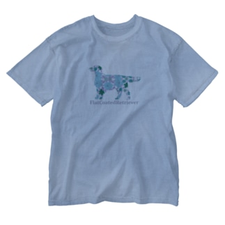 花 フラットコーテッドレトリバー Washed T-shirts