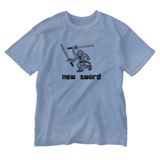 新しい刀が嬉しい忍者 Washed T-shirts
