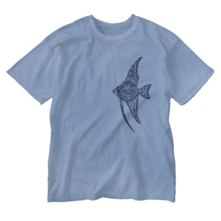 天使魚 Washed T-shirts