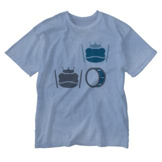カエルとスネア Washed T-shirts