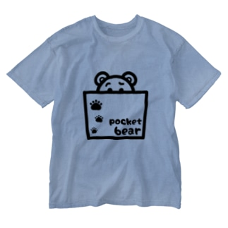 pocket bear【ポケットくまさん】 Washed T-shirts