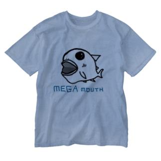 メガマウスちゃん Washed T-shirts