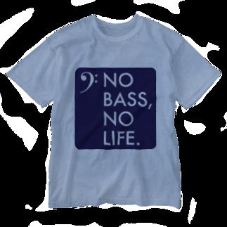 もりてつのNO BASS, NO LIFE. Washed T-shirts