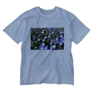 幸せの青い花 Washed T-shirts