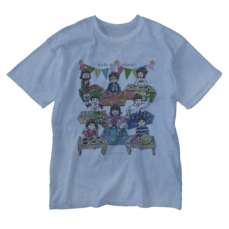 Let's play store!(片面印刷) Washed T-Shirt