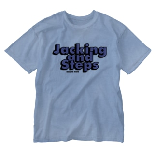 Jacking and Steps パープル Washed T-shirts
