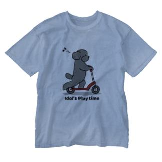 トイプー 1 黒系 Washed T-Shirt