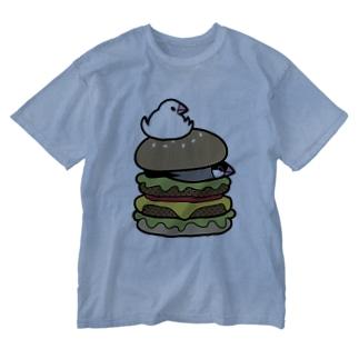 ぶんちょうバーガー Washed T-shirts