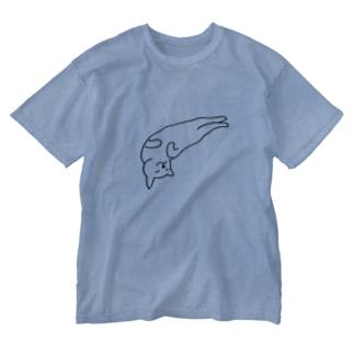 ゆる猫 ゆるる Washed T-shirts