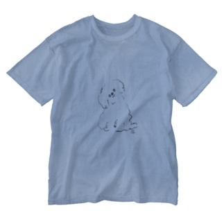 ちゃんと聞こうとするトイプードル Washed T-shirts
