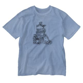 ヒゲバーガー よくばりセット Washed T-shirts