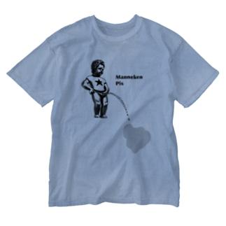 服を濡らしてくる小便小僧 Washed T-shirts