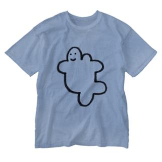 はしるおんな Washed T-shirts