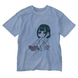 西瓜と蚊取と応答無 Washed T-shirts