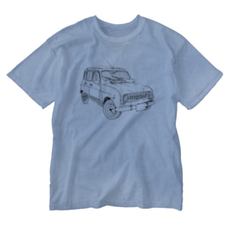 RENAULT 4GTL(BK) Washed T-shirts