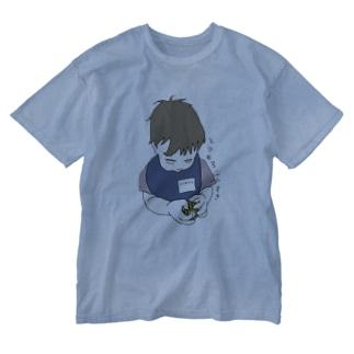 とうもろこしらばー Washed T-shirts