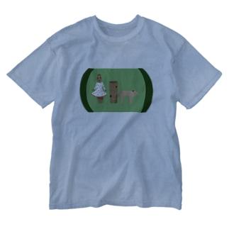 はにわさま Washed T-shirts