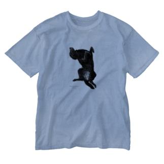 フラットコーテッドレトリバー Washed T-shirts