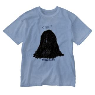 天使のかしこいプーリー犬、寄りかかる。 Washed T-shirts