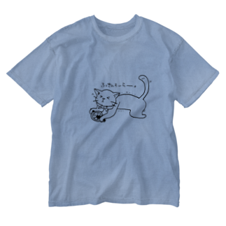 NEKOGETのにゃーん Washed T-shirts