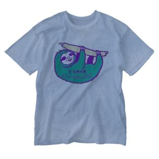 VIVID SLOTH Washed T-shirts