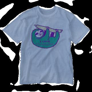 七味田飯店(SUZURI支店)のVIVID SLOTH Washed T-shirts