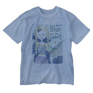 Blue cherry Washed T-shirts