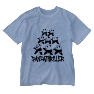 パンダスリラー Washed T-shirts