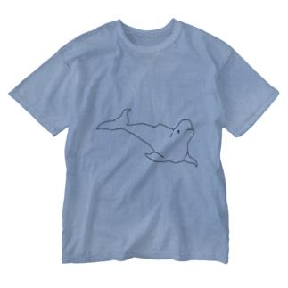 まっしろいるか Washed T-shirts