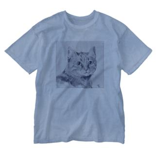 猫M1 Washed T-shirts