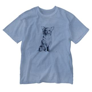 ちわわん Washed T-shirts