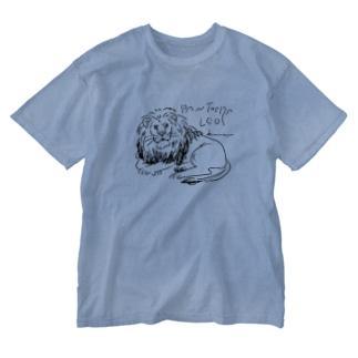 ライオンさん Washed T-shirts