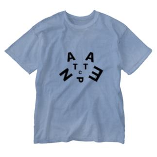 にゃんちぇった(へのへのもへじ式) Washed T-shirts