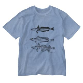 「おいしい給食」公式グッズショップの3匹のメルルーサ Washed T-shirts