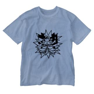 多邇具久 Washed T-shirts